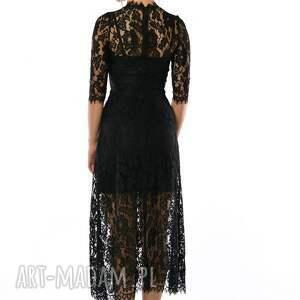 sukienki czarna sława - koronkowa