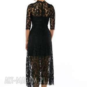 unikatowe sukienki koronkowa sława - czarna