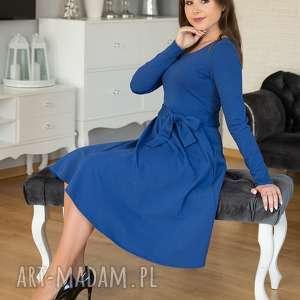 pomysł na prezent pod choinkę niebieskie sofi sukienka rozkloszowana