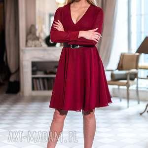 eleganckie sukienki bordowa spódnica kristen