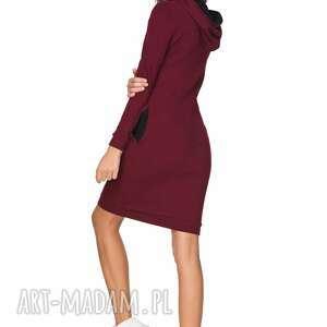 trendy sukienki sukienka sportowa z kapturem t214