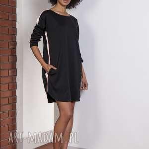 ręcznie zrobione sukienki lampasy sportowa sukienka z lampasami