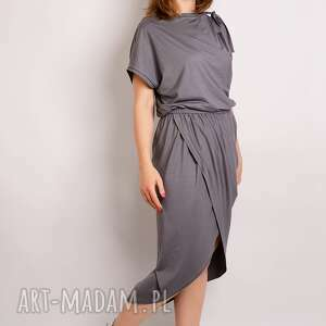 ręcznie robione sukienki stalowa sukienka z marszczeniem