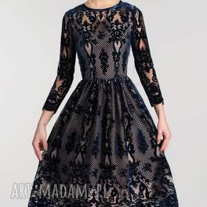 niebieskie sukienki sukienka aida midi nikoletta granat