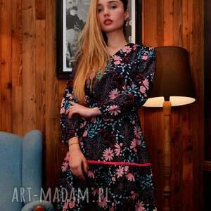 sukienki kolorowa-sukienka sukienka alice spring flowers roz