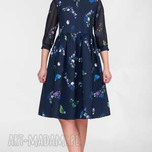 niebieskie sukienki marszczona sukienka alice mini penelopa
