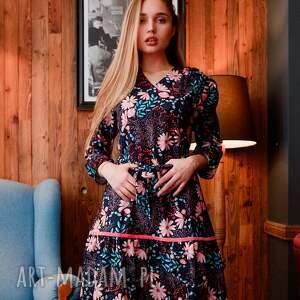kolorowa-sukienka sukienki sukienka alice spring flowers roz