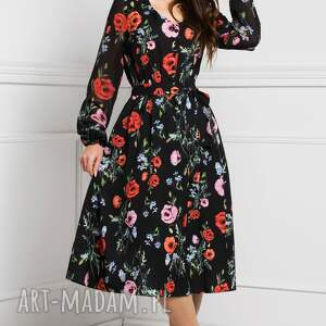 różowe sukienki jesień 2019 sukienka amber midi marianna