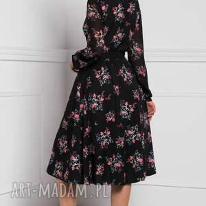 różowe sukienki sukienka na jesień amber midi adelajda