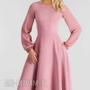 hand made sukienka aniela total midi brudny
