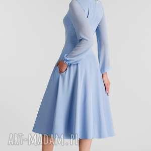 sukienki sukienka aniela -rozkloszowany dół (3/4 koła)