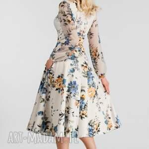 niebieskie sukienki sukienka aniela total midi gardenia