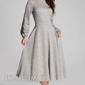 szare sukienki sukienka total midi aniela melanż