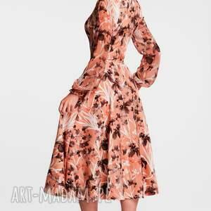 efektowne sukienki sukienka jesienna aniela total midi