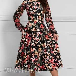 pomarańczowe sukienki sukienka total midi aniela larisa