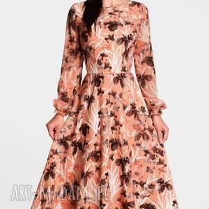 brązowe sukienki sukienka total midi aniela