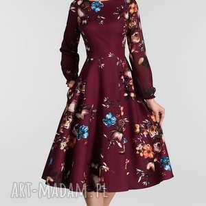 sukienka sukienki kolorowe aniela -rozkloszowany dół (3/4 koła)