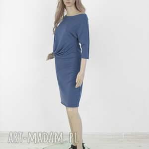 LaLu sukienki 18 - sukienka asymetryczna indygo