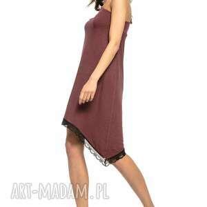 sukienki sukienka asymetryczna z odkrytym