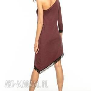 sukienki asymetryczna sukienka z odkrytym