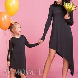 sukienki asymetryczna sukienka z długim