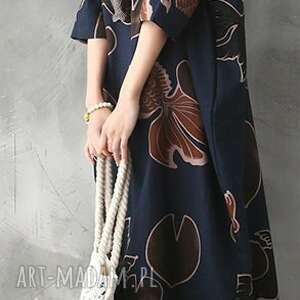 niekonwencjonalne len sukienka bawełna z lnem