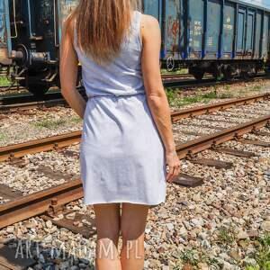jasny szary melanż sukienka bawełniana free up dress