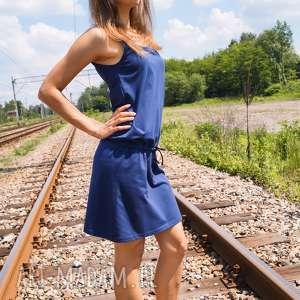 unikatowe sukienki na ramiączkach sukienka bawełniana loose dress