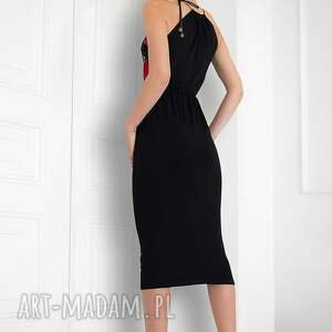 trendy sukienki sukienka bez ramion czarna