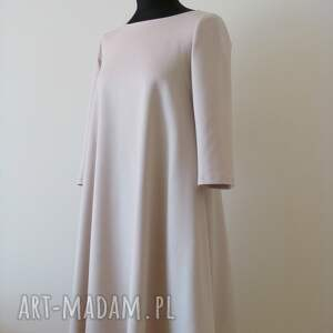 trendy sukienki sukienka 7 - beżowa