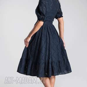 niebanalne sukienki sukienka na wesele bogna midi haft angielski