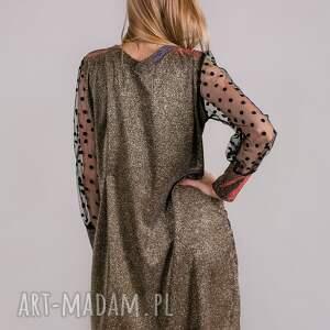 sukienki bluzka sukienka brokatowa sparkling gold