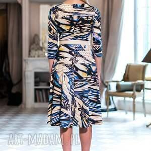 Sukienka Charlotte - oryginalna wzorzysta