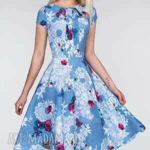 różowe sukienki kokarda sukienka chloe ii midi bonita