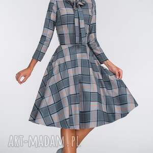 handmade sukienki krata sukienka chloe midi jenna
