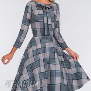krata sukienki szare sukienka chloe midi jenna