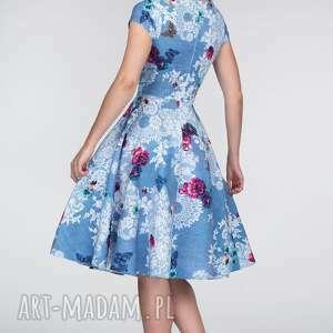 wiązanie sukienki turkusowe sukienka chloe ii midi bonita