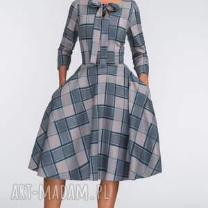 turkusowe sukienki wiązanie sukienka chloe midi jenna