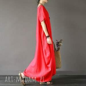 sukienka czerwona oversize
