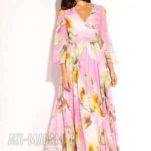 romantyczna sukienki różowe sukienka dalida