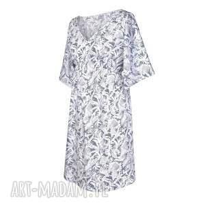 modne sukienki boho sukienka damska   palme blu