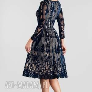 niebieskie sukienki koronkowe sukienka daria midi nikoletta