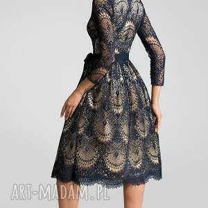 niebieskie sukienki midi sukienka daria 3/4 josefina