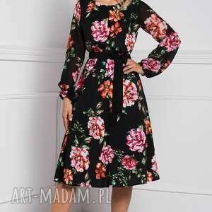 czarne sukienki sukienka jesienna darla midi afrodyta
