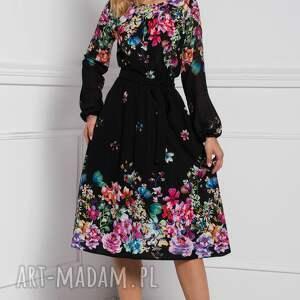 czarne sukienka darla midi belinda