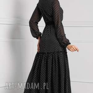 niebanalne sukienki sukienka delia maxi donata (grochy