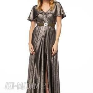 wieczorowa sukienki złote sukienka despine