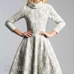 atrakcyjne sukienki kieszenie sukienka donna midi noemi