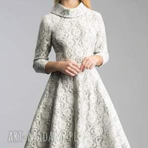 atrakcyjne sukienki koronka sukienka donna midi noemi