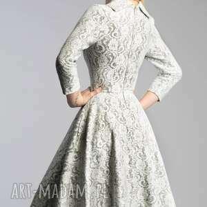 szare sukienki midi sukienka donna noemi